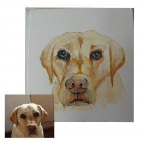 Portræt maleri (Kæledyr)